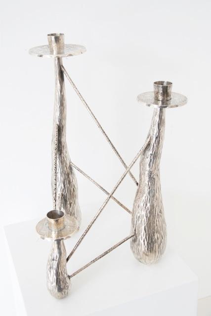, 'Sculptural silver chandelier,' 1930-1955, Gallery Anne Autegarden