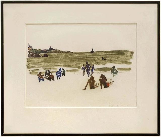 Joseph Solman, 'Modernist Beach Scene, 1976 Monotype', 20th Century, Lions Gallery