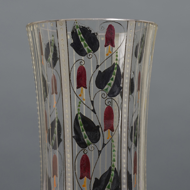 Wiener Werkstätte, 'Vases, pair', c. 1910, Design/Decorative Art, Hand-painted crystal, Rago/Wright