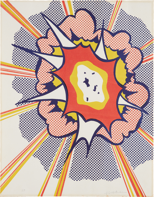Roy Lichtenstein, 'Explosion, from Portfolio 9', 1967, Print, Lithograph in colors, on Rives paper, the full sheet, Phillips
