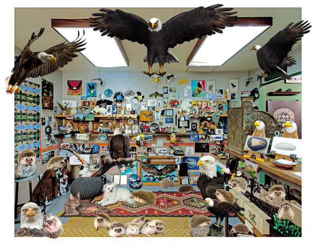 , 'The Rock and Eagle Shop, With Animals,' 2017, Klowden Mann