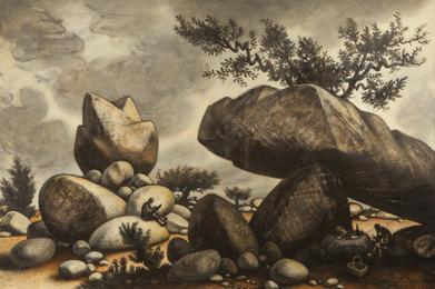 Study for Boulders of Avila