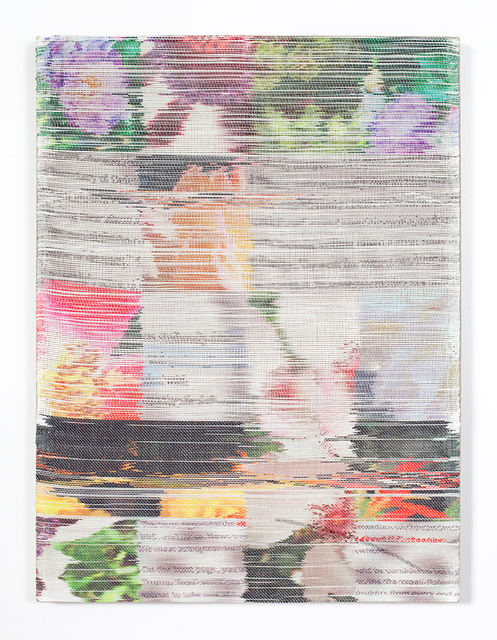 Margo Wolowiec, 'Landmark', 2017, Textile Arts, Handwoven polyester, linen, dye sublimation ink, and acrylic dye, Harper's