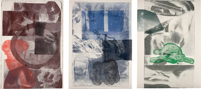 Robert Rauschenberg, 'Tides; Drifts; and Gulf', 1969, Print, Three lithographs in colors, on German Copperplate paper, the fullsheets., Phillips