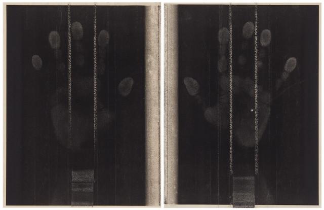 Marsha Cottrell, 'Hands_2', 2018, Print, Laser toner on paper, unique diptych, Anthony Meier Fine Arts