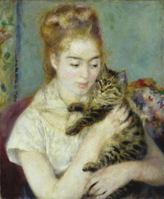 Pierre-Auguste Renoir, 'Woman with a Cat', ca. 1875, National Gallery of Art, Washington, D.C.