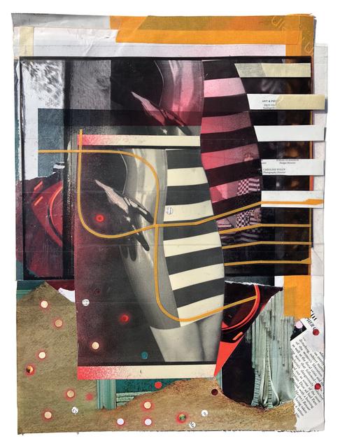 , 'Olivia (Collage Study),' 2018, Coagula Curatorial