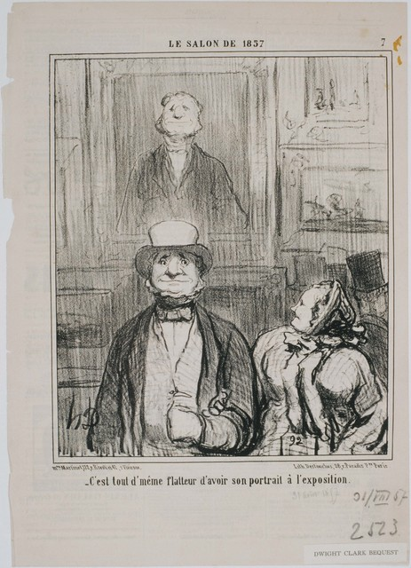 Honoré Daumier, 'Le Salon de 1857: Comment, c'est dans cette cave que…', 1857, Phillips Collection