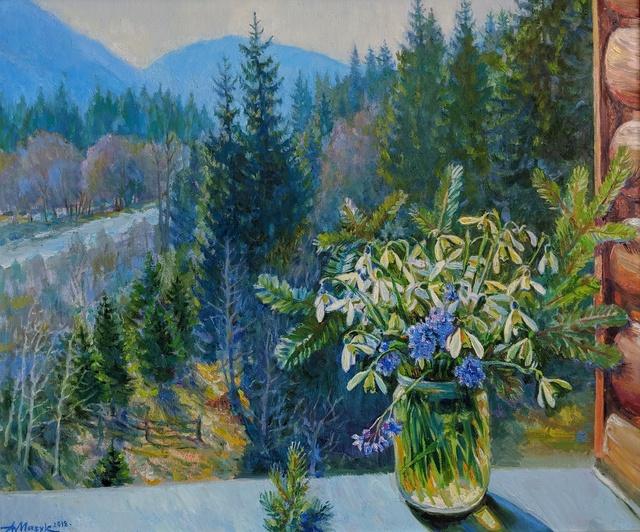 """Alexander Masyk, '""""Forest Snowdrops""""', 2019, The Galleries at Salmagundi"""