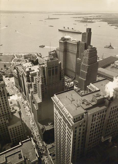 , 'Broadway to the Battery (from the Irving Trust Company Building),' 1938, Holden Luntz Gallery