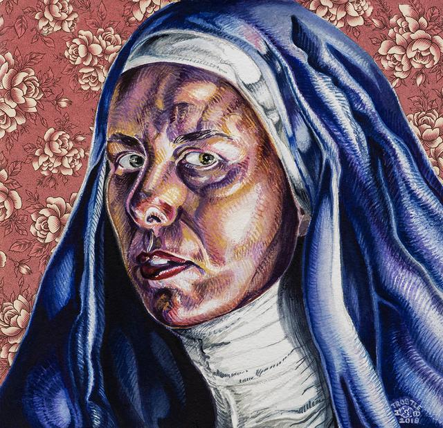 , 'Little Blue Nun,' 2018, Somerville Manning Gallery