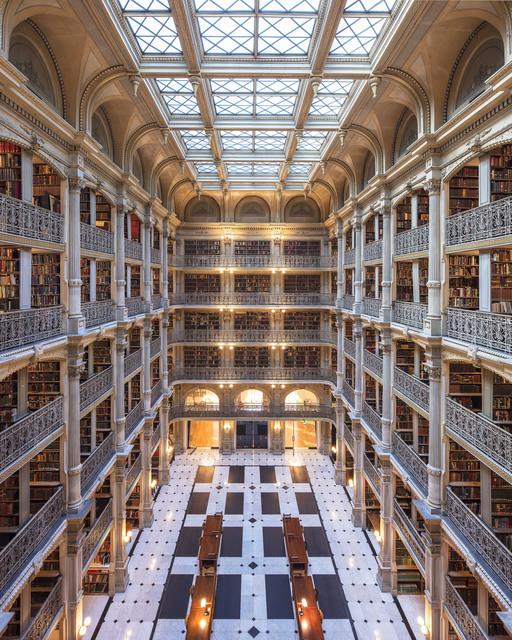 , 'George Peabody library II, baltimore,' 2017, K + Y Gallery