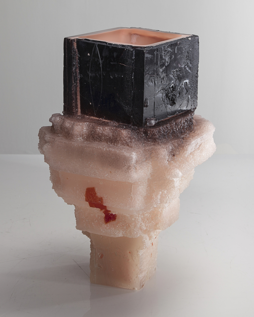 , 'Unique Assemblage vessel in black and pale pink with pink interior hand-blown, cut and polished glass,' 2015, R & Company