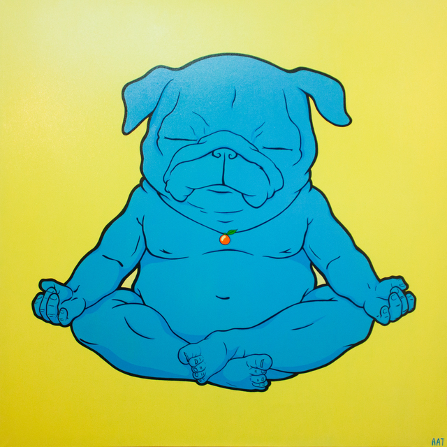 , 'Big Meditator (Pug, Dog, Buddha, yellow),' 2016, Lomaka Gallery