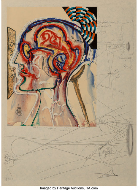 Salvador Dalí, 'Imaginations and Objects of the Future', 1975-76, Print, 11 intaglios and lithographs in colors, six with collage, on Japanese paper, with cover sheets and text, Heritage Auctions