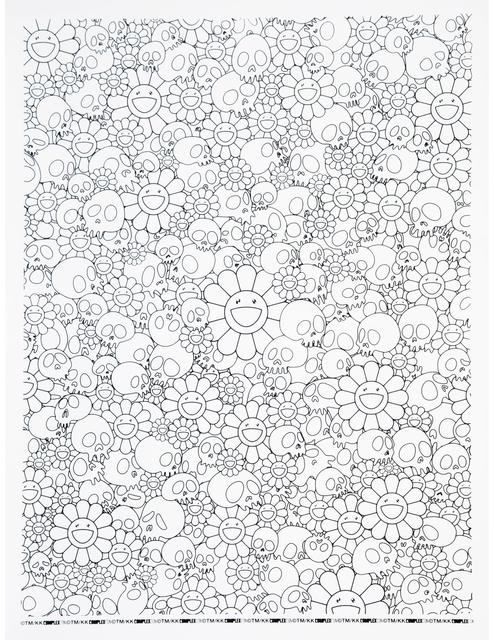 Takashi Murakami, 'Skulls and Flower Print (With Plastic Plate)', 2018, Curator Style