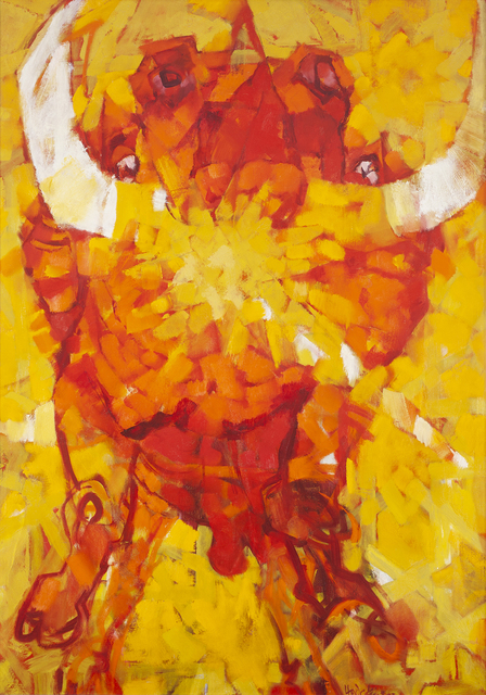 Frank Hodgkinson, 'Sun Bull', ca. 1967, Painting, Oil on canvas, Charles Nodrum Gallery