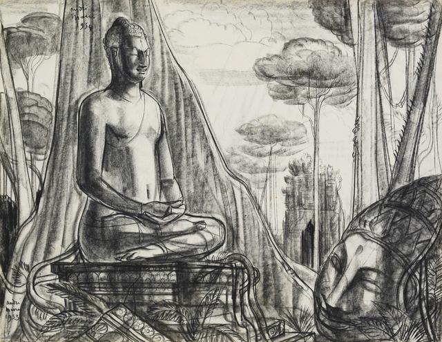 , 'Buddha in meditation,' 1953, Galerie Dumonteil