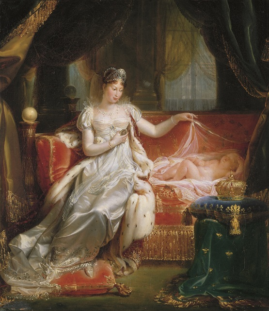 , 'The Empress Marie-Louise Watching Over the Sleeping King of Rome, presented at the Salon of 1812,' 1811, Montreal Museum of Fine Arts