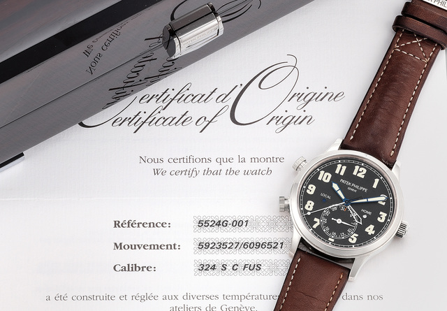 Patek Philippe, 'A very fine and attractive 18k white gold dual-time wristwatch with date, certificate of origin and presentation box', Circa 2015, Phillips