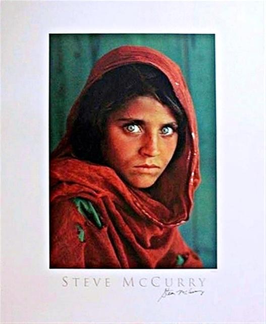 Steve McCurry, 'Sharbat Gula, Afghan Girl, Pakistan Poster (Hand Signed)', 1984, Alpha 137 Gallery Auction