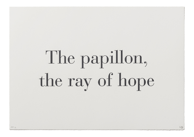 ", '""The Papillon, the Ray of Hope"" from ""What is the Shape of this Problem?"",' 1999, Burning in Water"