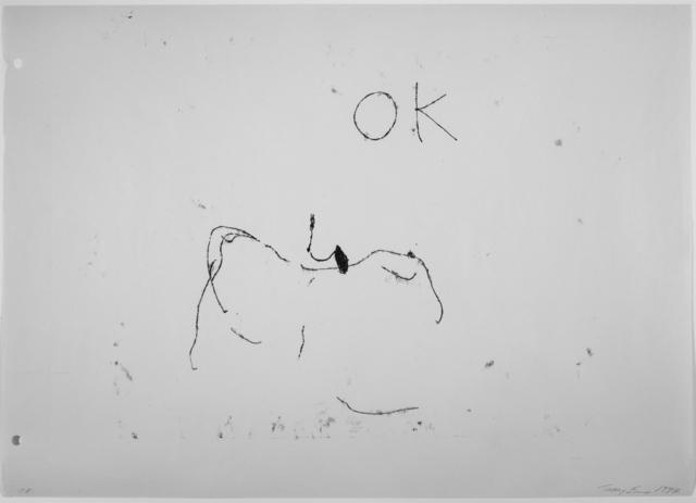 Tracey Emin, 'OK', 1997, Joanna Bryant & Julian Page