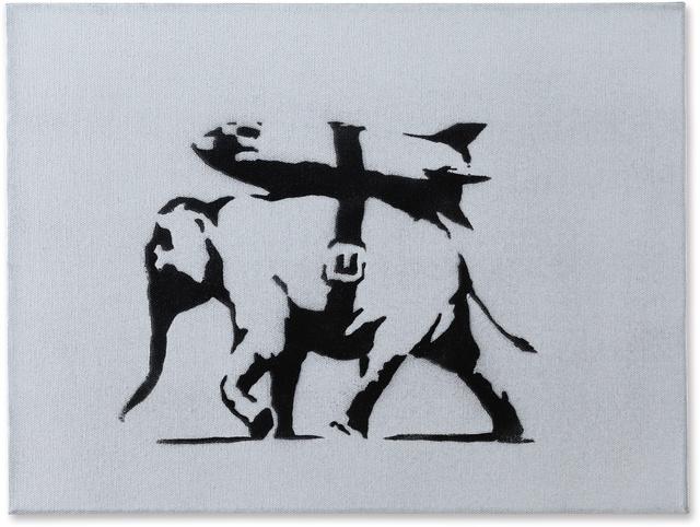Banksy, 'Heavy Weaponry - Canvas ', 2004, EXTRAORDINARY OBJECTS