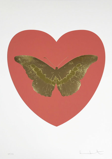 Damien Hirst, 'I Love You - Coral/Cool Gold/Oriental Gold', 2015, Hamilton-Selway Fine Art