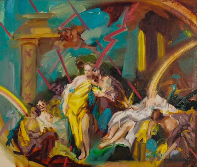 Jonny Green, 'The Ravers', 2019, Painting, Oil on cardboard, Galerie Heike Strelow