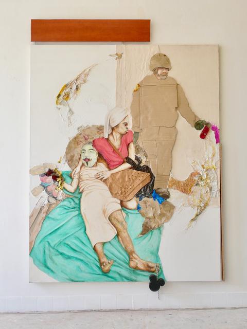 Maurice Thomassen, 'Peripheral Theatre : Campus ', 2011-2019, Mixed Media, Mixed media on canvas, NL=US Art