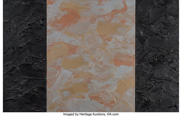 James Hayward, 'Black/Metallic (triptych)', 1987, Painting, Oil and wax on canvas laid on board, Heritage Auctions