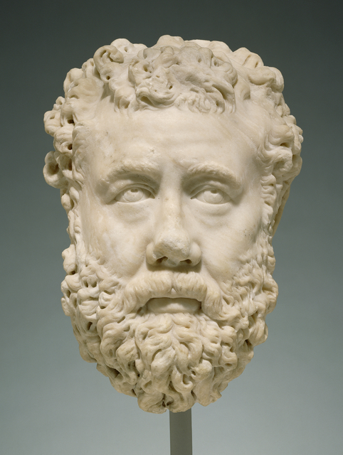 'Portrait of a Bearded Man', 200 -225, J. Paul Getty Museum