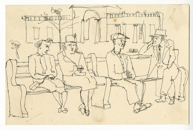 , 'Two Women and Two Men on a Bench,' ca. 1940, Timothy Taylor