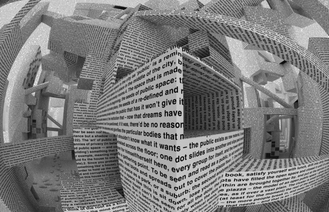 , 'City of Words, Wallpaper by Maharam,' 2010, Galleria Michela Rizzo