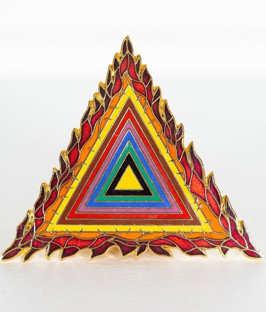 Judy Chicago, 'Holocaust Project Logo Pin and Pendant', 1993, Fashion Design and Wearable Art, Enamel pin with pendant loop, Caviar20