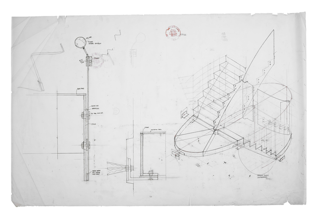 , 'Staircase detail, part section & axonometric (full size and 1:10),' 2008, Piano Nobile
