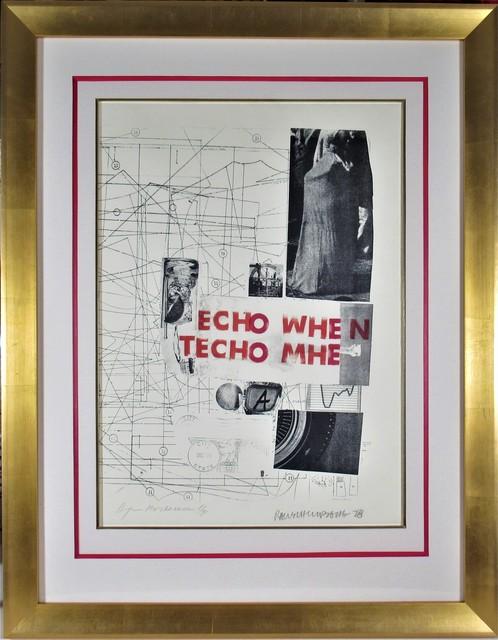"""Robert Rauschenberg, 'Echo When""""', 1978, Joseph Grossman Fine Art Gallery"""
