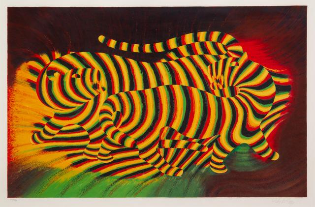 Victor Vasarely, 'Tigres', c. 1970, Hindman