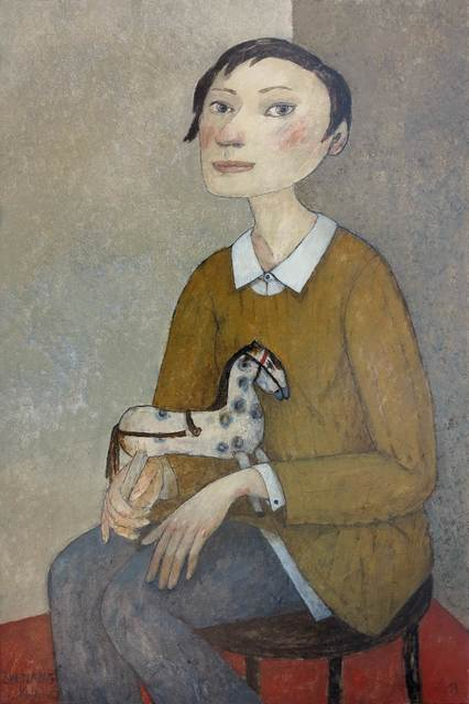 , 'Girl with wooden horse,' , Great Banyan Art