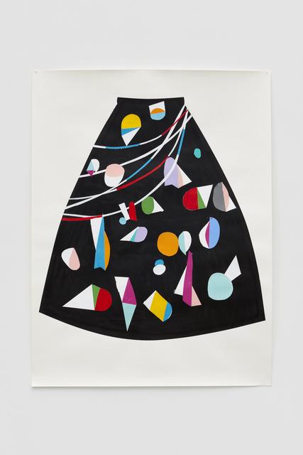 , 'Long painted skirt for East Village instigator,' 2017, Casey Kaplan