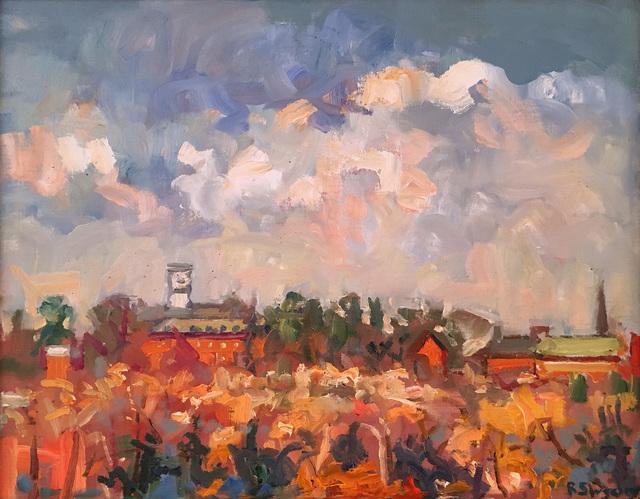 , 'Amherst College, Blustery Day,' 2017, William Baczek Fine Arts
