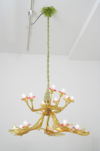 , 'Chandelier (Fallow Deer, White-Tail Deer, and Anemones), reverse (yellow),' 2006, Locks Gallery