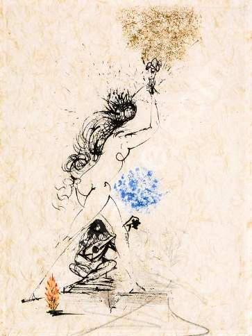 Salvador Dalí, 'La Felle au Flambeau (Girl with a Torch)', 1968, Print, Etching, Puccio Fine Art