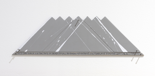 , 'A 21 Day Walk Via The Tops Of Seven Small Engadin Mountains, Switzerland, Summer 2007,' 2007, Parafin