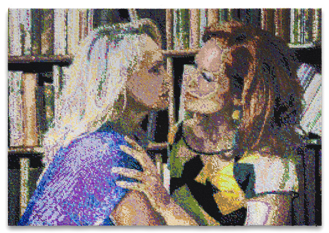 Frances Goodman, 'A Moment', 2020, Mixed Media, Hand-stitched sequin on canvas, Richard Taittinger Gallery