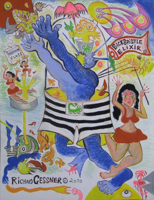 , 'Orphan Floss Circus,' 2010, Gold/Scopophilia*