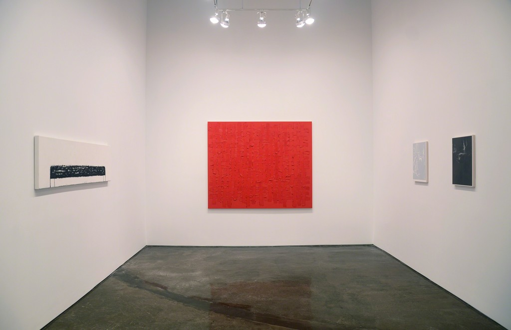 Installation view of Brant / Brennan / Zinsser (left to right: Sharon Brant, John Zinsser, Michael Brennan)