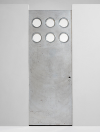 Door with portholes