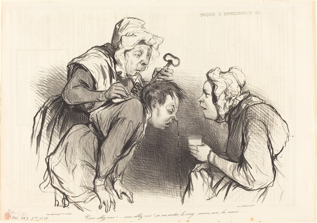 Honoré Daumier, 'Vous allez voir!... ça va arrêter le sang...', 1838, National Gallery of Art, Washington, D.C.
